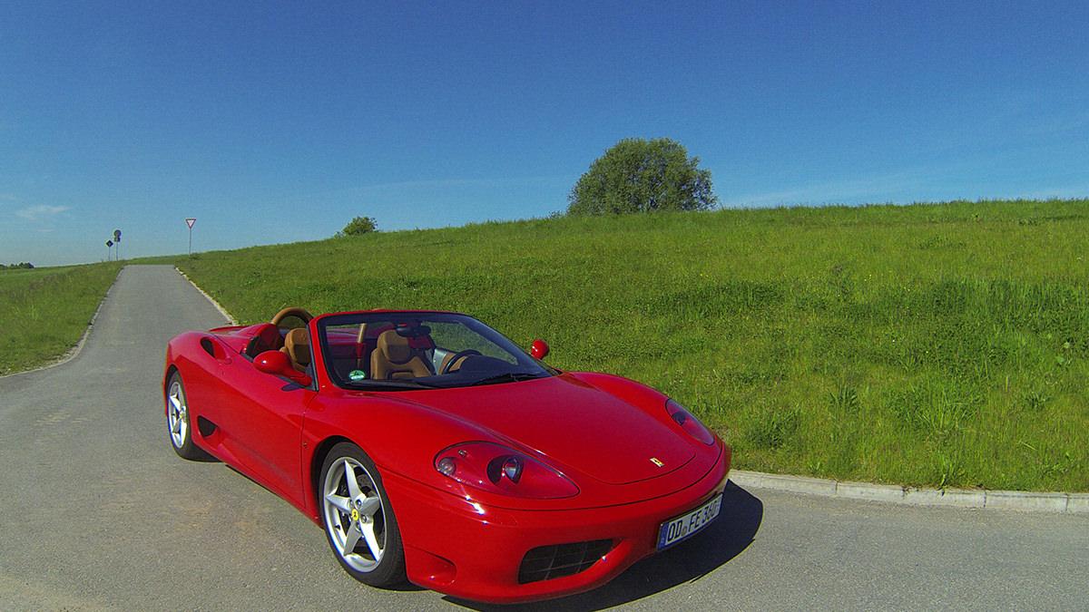 Luftaufnahmen-Ferrari-F360-Modena-Spider-Warm-Up