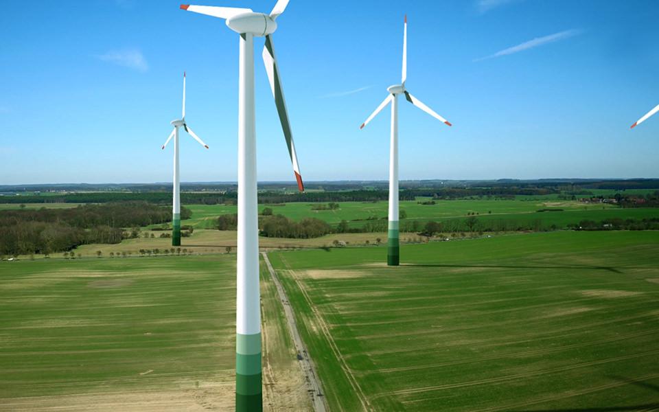 Windpark Luftbilder - Norddeutschland Drohne